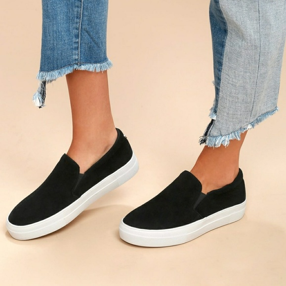 30c61080d2b Steve Madden gills black suede flatform sneaker